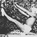 "Joseph Pilates doing ""Teaser"""